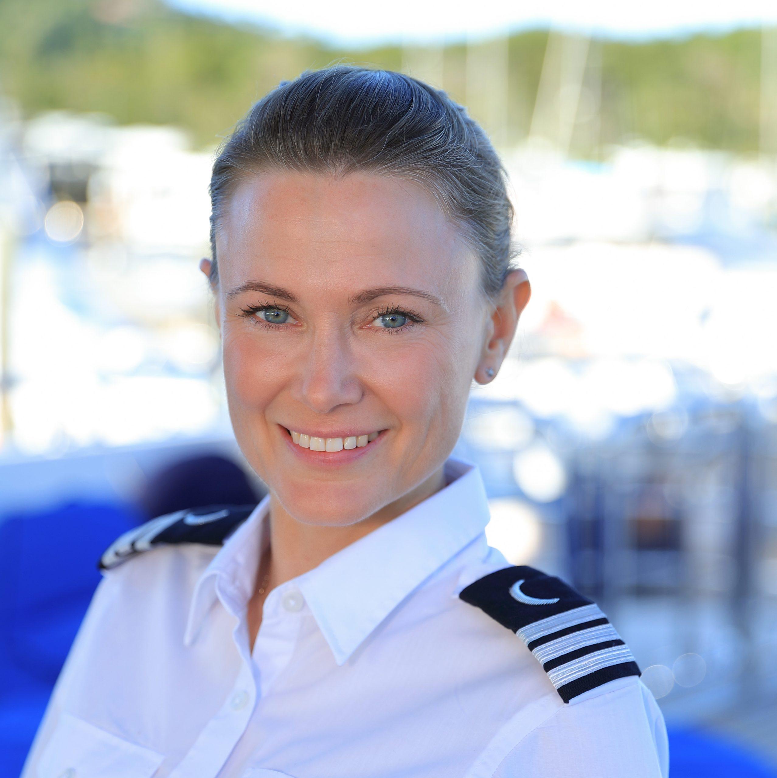 Stewardess Caitlin Poulton